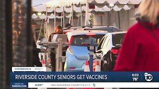 Riverside County seniors getting COVID-19 vaccine