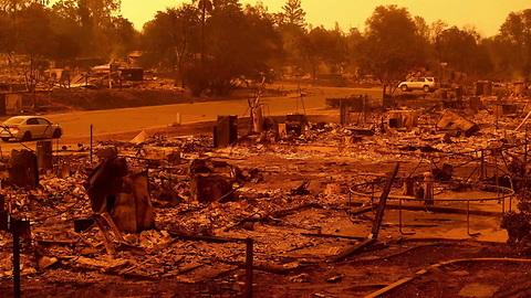 Northern California Wildfire Creates 'Fire Tornado'