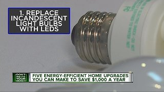 Five energy efficient home upgrades that can save you $1,000