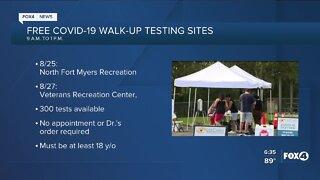 Free COVID-19 walk-up testing sites
