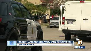 Stolen Amazon delivery van recovered