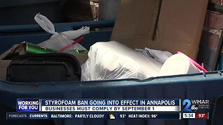 Styrofoam ban going into effect in Annapolis