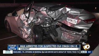 Driver arrested in suspected DUI crash