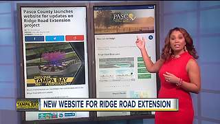 Pasco County launches website for updates on Ridge Road Extension project