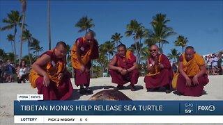 Tibetan monks help release sea turtle in Florida Keys
