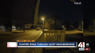 Gunfire rings through quiet neighborhood