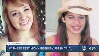 Witness testimony begins in Yust trial