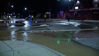 Water main break closes West 140th Street and Lorain Avenue