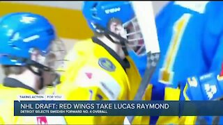 Red Wings select Lucas Raymond in NHL Draft
