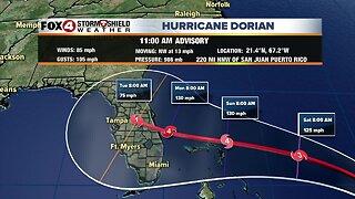 Hurricane Dorian -- 11am Thursday update