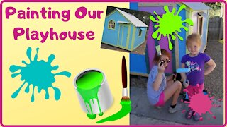 Painting Our Playhouse