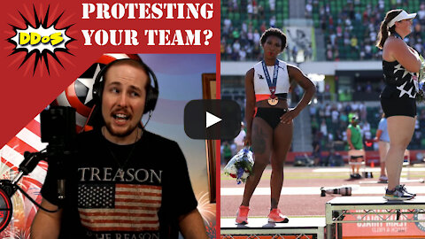DDoS- Member of U.S.A. Olympic Team Protests the National Anthem