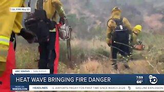 Heat wave brings fire danger