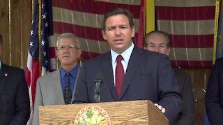 Florida Gov. Ron DeSantis speaks in Ponte Vedra Beach