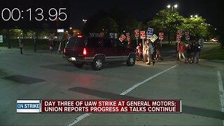 Day three of UAW strike at General Motors