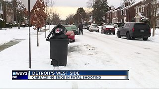 Police: Carjacking victim fatally shoots one of two carjackers on Detroit's west side