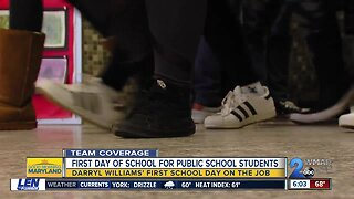 Summer break is over; first day back for public school students