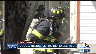 Two displaced after a Indianapolis house fire