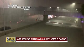 M-59 reopens in Macomb County after flooding