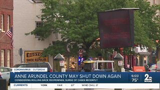 Anne Arundel County may shut down again