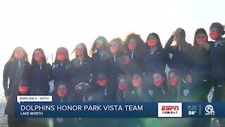 Miami Dolphins honor Park Vista flag football