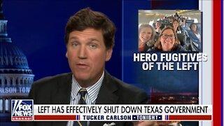 Tucker Mocks 'Truly Heroic' Texas Democratic Fugitive - 2413