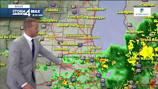 Thunderstorms are wrapping up, and temperatures are rising