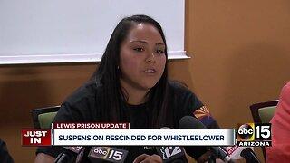 Discipline rescinded against Lewis Prison whistleblower