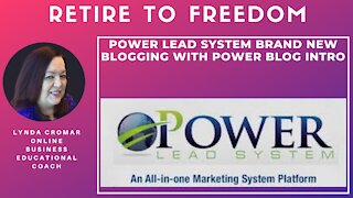 Power Lead System Brand New Blogging With Power Blog Intro