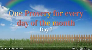 Proverbs Chapter 07