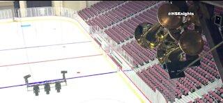 Henderson Silver Knights install goal horn inside arena