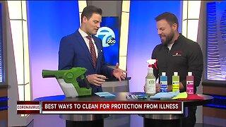 Disinfecting work and home from Coronavirus