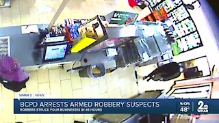 BCPD arrests armed robbery suspects