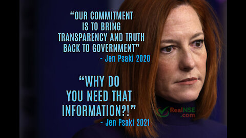 """Psaki: """"why do you need that information?"""" When asked for COVID VAX #'s in WH"""