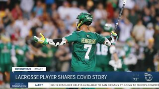 Lacrosse player shares COVID story
