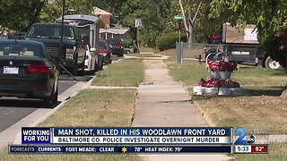 Man shot, killed in his Woodlawn front yard