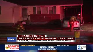 4-year-old child, 2 adults critically injured in Glen Burnie house fire