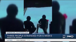 Three people stranded for five weeks rescued