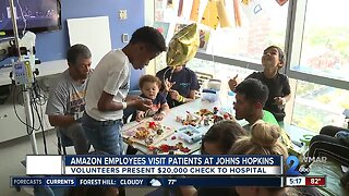 Amazon employees visit patients at Johns Hopkins