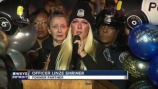Fallen DPD Officer's former partner speaks at vigil