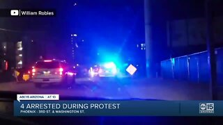Four people arrested following protest in downtown Phoenix