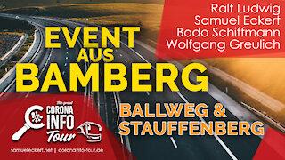 Bamberg - mit Graf von Stauffenberg und Michael Ballweg