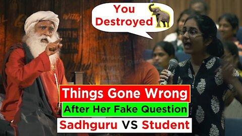 Things Went Horribly Wrong When She Accused Sadhguru On Fake Propaganda    Sadhguru Talking