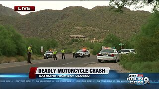 Deadly motorcycle crash on Catalina Highway