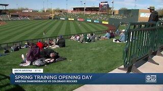 Spring Training opening day in Arizona