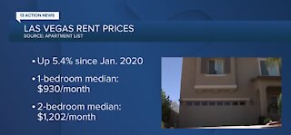 Rent prices climbing in Las Vegas