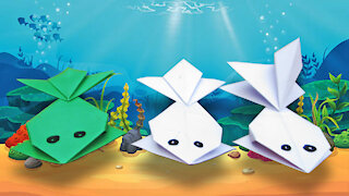 how to make paper fish | Easy Origami Paper Fish | Paper Crafts For School