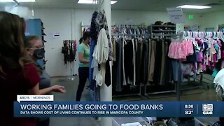 More working families going to food banks