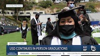 USD continues in-person graduations