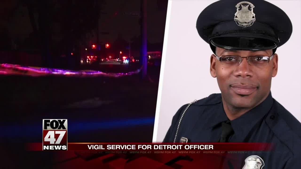 Vigil for Detroit police officer